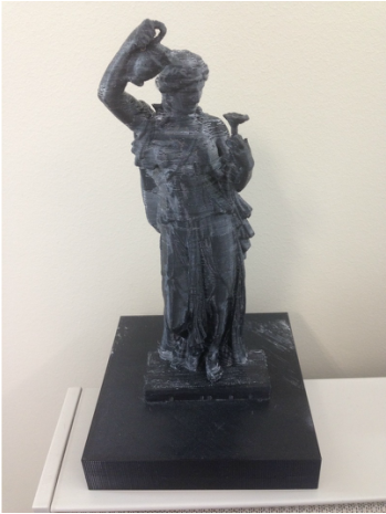 a 3D model of the Bryce Hospital statue